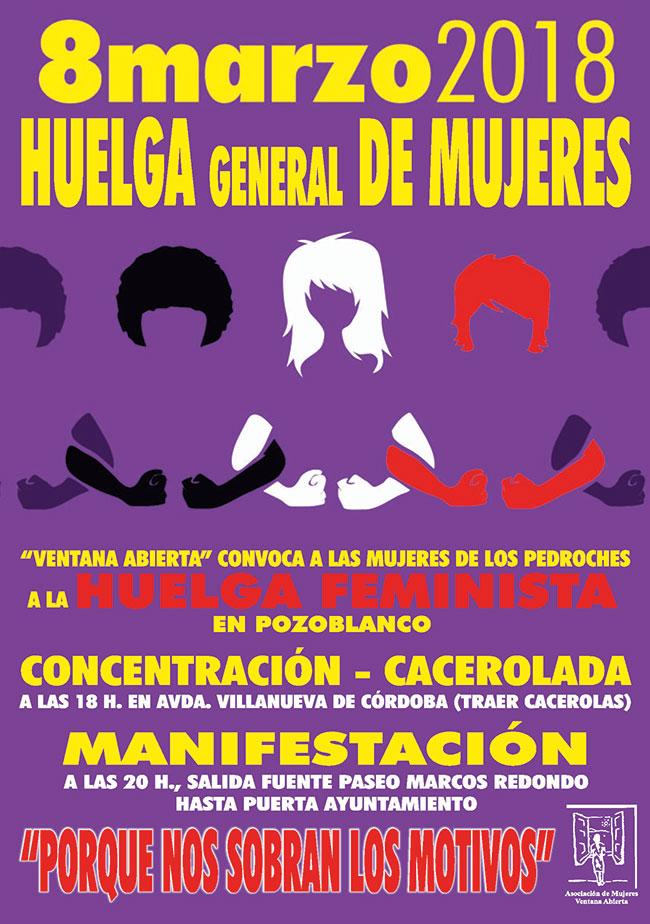 Convocada una manifestación en Pozoblanco y una huelga general de mujeres el día 8 de marzo