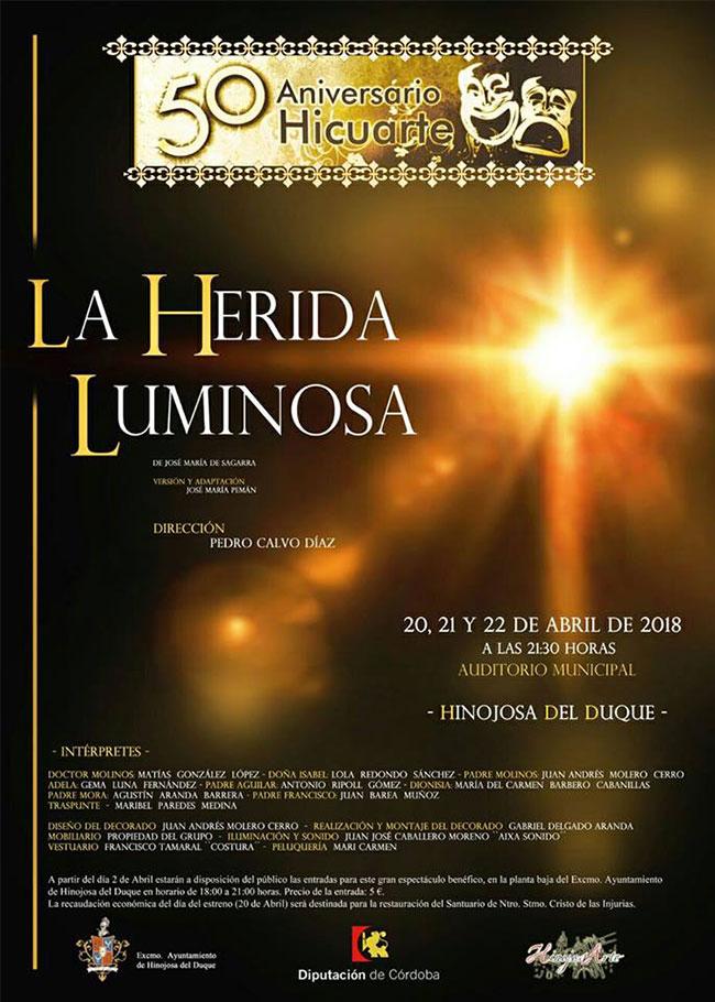 Presentación de la representación teatral 'la herida luminosa' en Hinojosa del Duque
