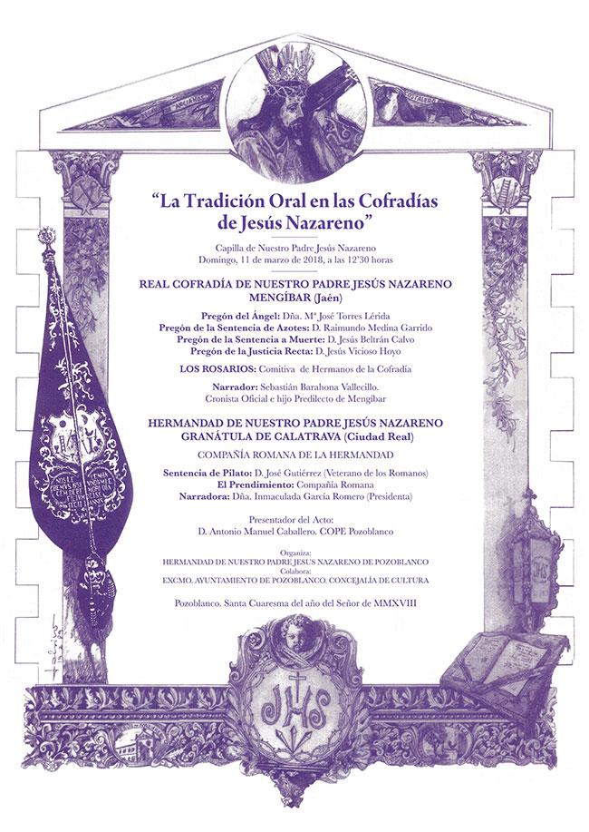 La Tradición Oral en las Cofradías de Jesús Nazareno
