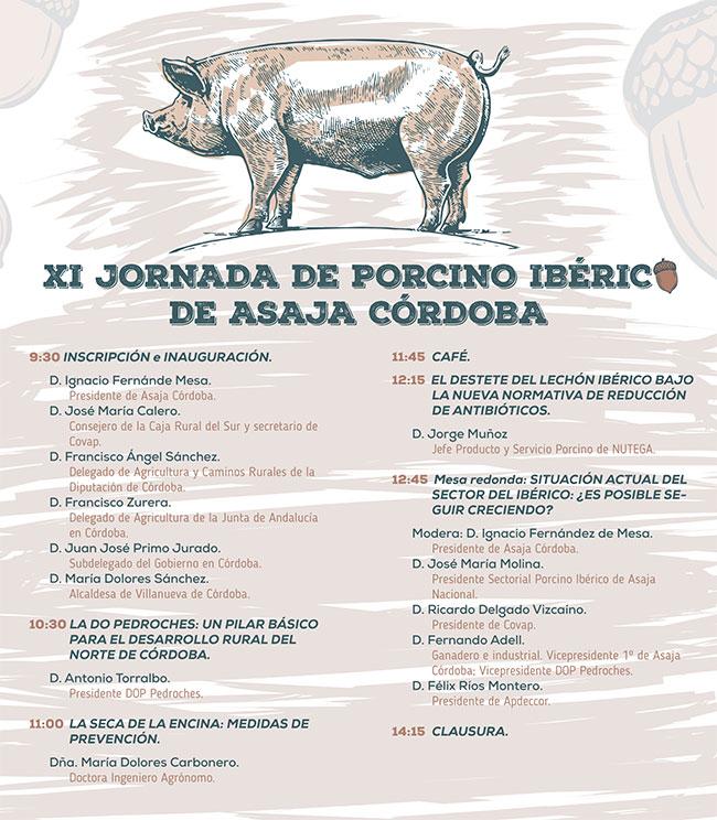 Asaja abordará en Villanueva de Córdoba unas jornadas sobre la situación del ibérico