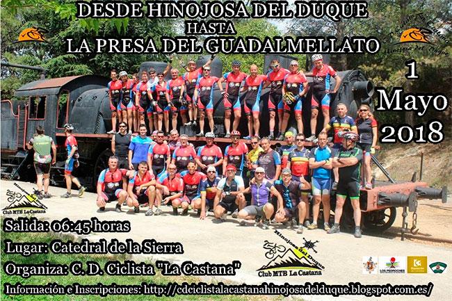 El CD Ciclista La Castana organiza una ruta desde Hinojosa del Duque hasta la presa del Guadamellato