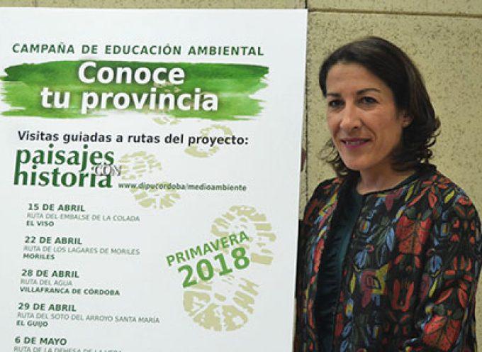 La Diputación organiza rutas guiadas, la primera será la Ruta del Embalse de la Colada en El Viso