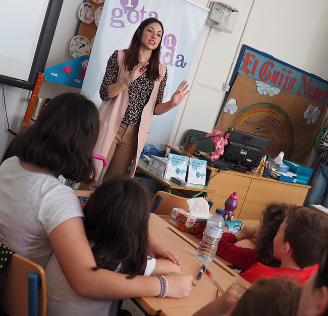 Escolares de El Guijo participan en los talleres sobre uso responsable del agua