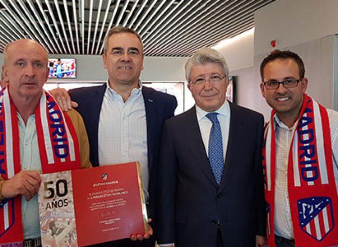 La Peña Atlético de Madrid de Pozoblanco celebra su 50 aniversario con la presencia de Enrique Cerezo