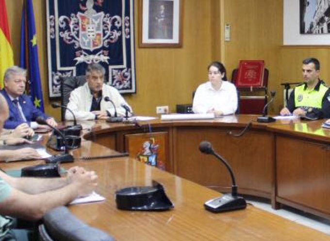 Reunión de la Junta de Seguridad Local de Hinojosa del Duque ante los últimos delitos realizados