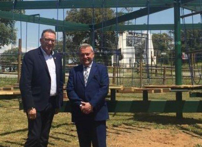 El delegado de Cultura visita las obras del Parque Multiaventura de El Viso