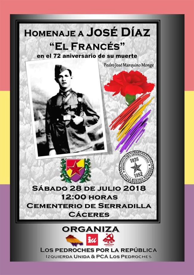 Un homenaje al hinojoseño Pedro José Díaz Monge 'El Francés'