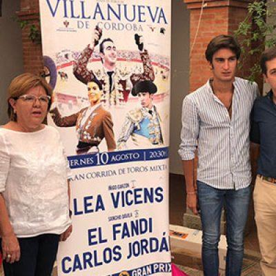 Una feria taurina en Villanueva de Córdoba con Lea Vicens, El Fandi y Carlos Jordán