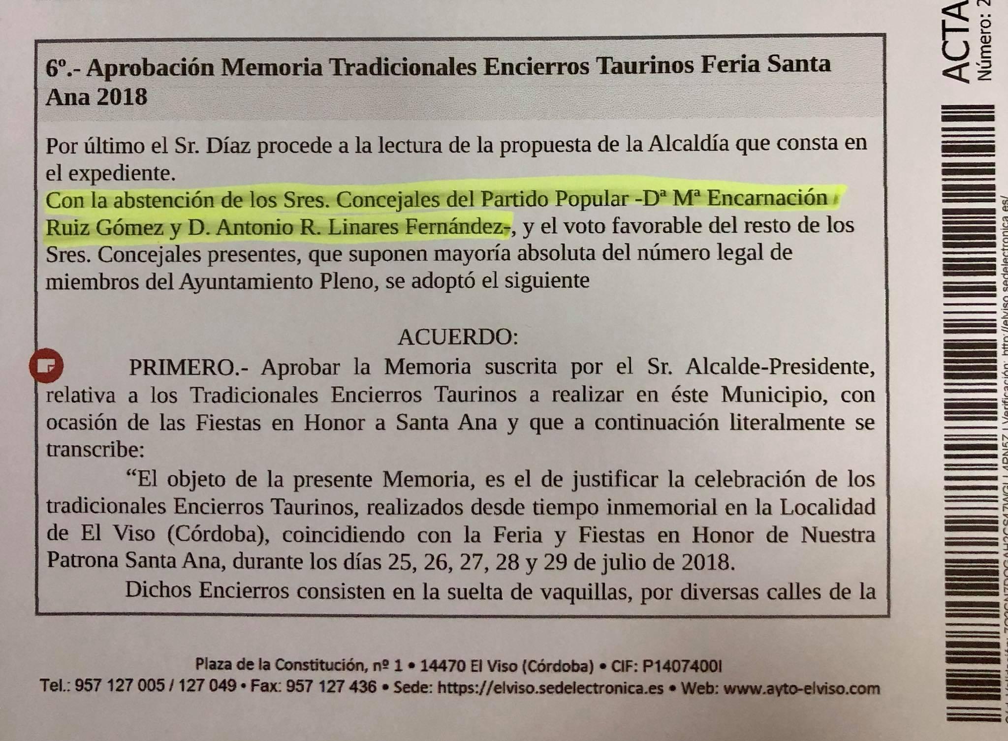 PSOE de El Viso: 'La defensa y el apoyo a nuestras tradiciones se deben hacer efectivos los 365 días del año'