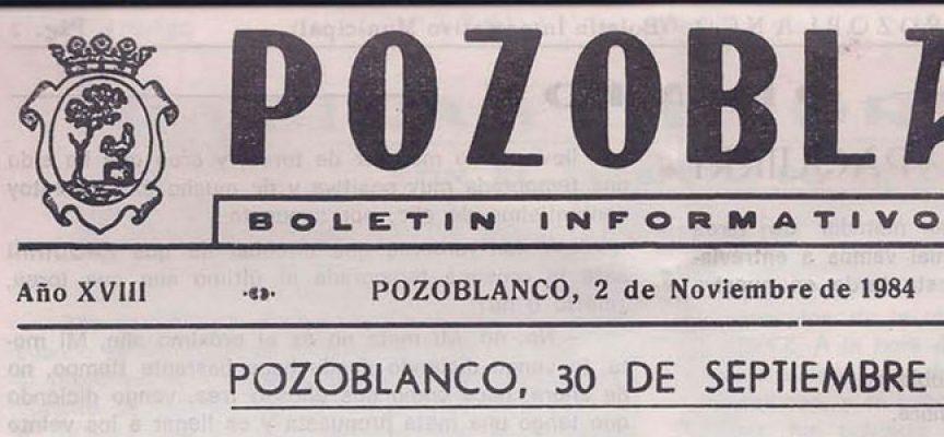 'Boletín Informativo Municipal' de Pozoblanco del 2 de noviembre de 1984