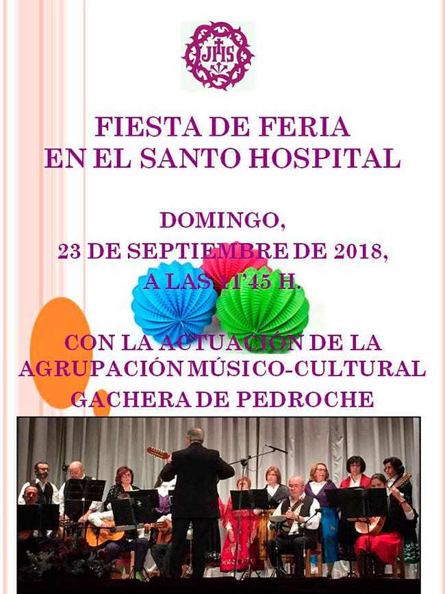 La 'Fiesta de Feria' en el Santo Hospital de Pozoblanco llevará el ambiente festivo a los ancianos