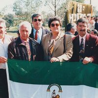 Cuando la Mancomunidad de Los Pedroches se reunió de celebración en 1995