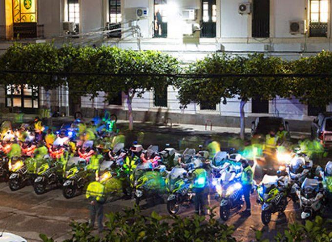 La Escuela de Tráfico de la Guardia Civil de Mérida tiñe de amarillo y verde Hinojosa del Duque