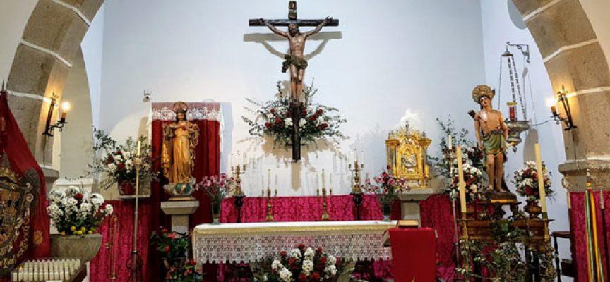 El barrio del 'Alto Santo' de Villanueva de Córdoba celebra San Sebastián, patrón de los aceituneros