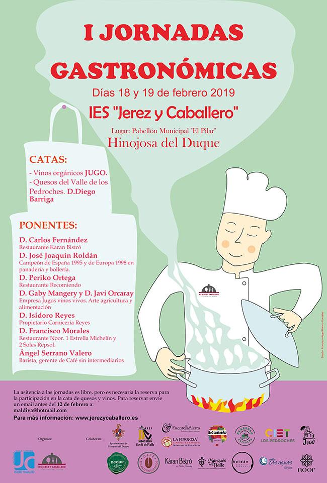 Presentadas las I Jornadas Gastronómicas organizadas por el IES Jerez y Caballero de Hinojosa del Duque