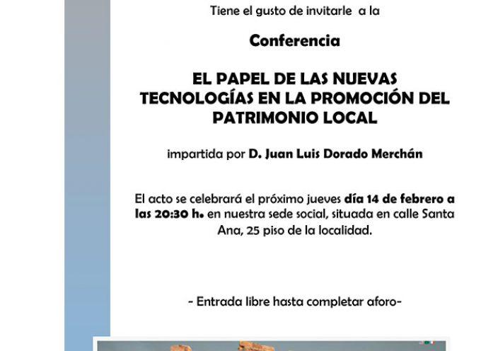 Una conferencia sobre 'el papel de las nuevas tecnologías en la promoción del patrimonio local'