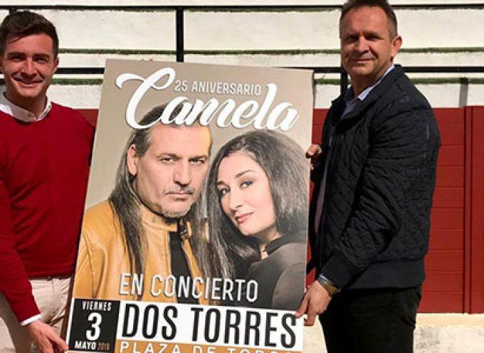 Camela actuará en la plaza de toros de Dos Torres