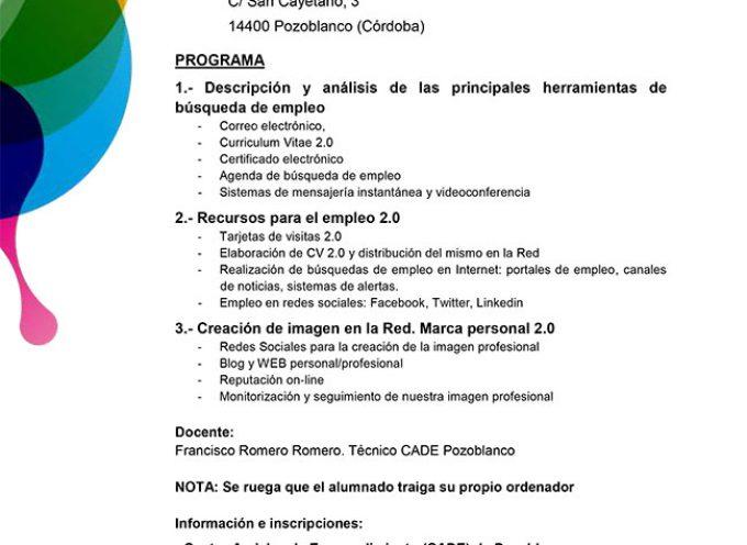 'Herramientas de Internet para la búsqueda de empleo', un curso en la Casa de la Juventud de Pozoblanco