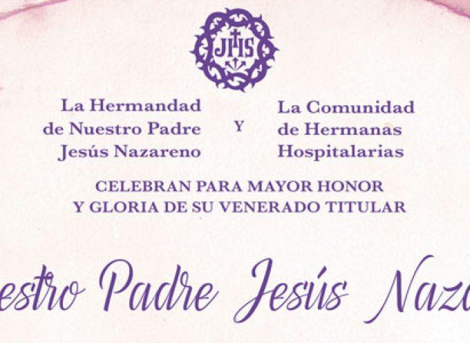 La hermandad y el hospital de Jesús Nazareno de Pozoblanco celebran el 'Solemne Triduo' en honor a su titular