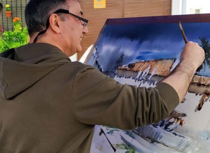 La Romería Acuarelística alcanza su segunda edición y se consolida junto a la Fiesta de las Flores, en Torrecampo