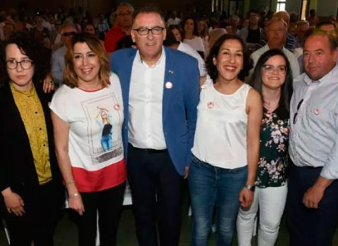 Susana Díaz defiende el potencial de la dehesa y de la estación de tren en su visita a Villanueva de Córdoba y Pozoblanco
