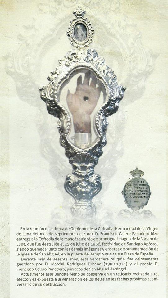 antigua mano de la Virgen de Luna