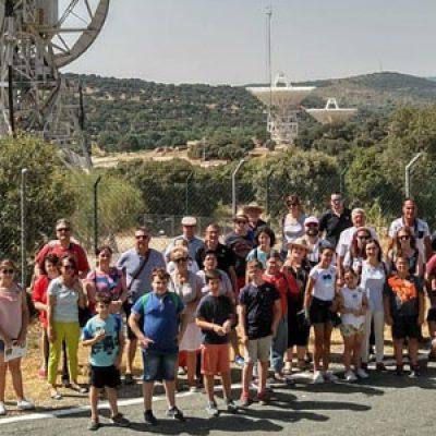 La Escuela Municipal de Astronomía de Villanueva de Córdoba visita la sede de la NASA en España
