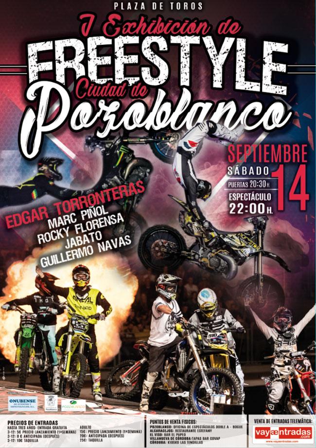 Edgar Torronteras, el pionero del Freestyle Motocross en Europa, en la primera exhibición freestyle 'Ciudad de Pozoblanco'