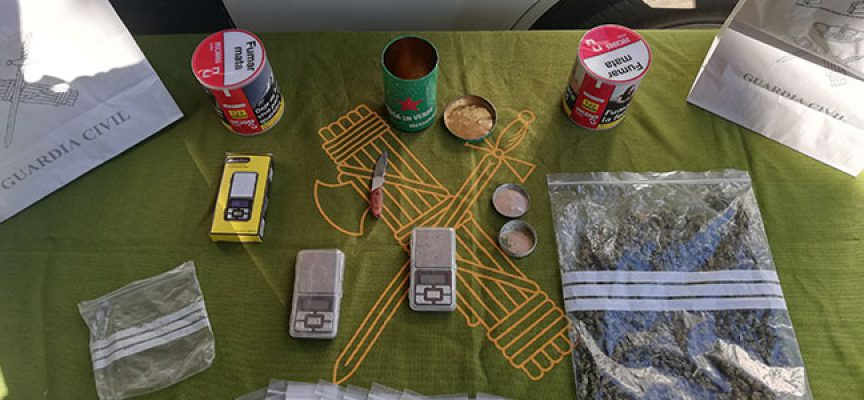 Desmantelado un punto de venta de droga y detenida una persona en Cardeña