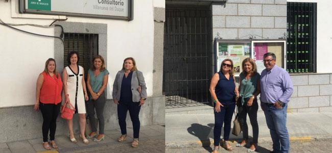 La delegada territorial de Salud y Familias visita los Consultorios de Añora y Villanueva Del Duque