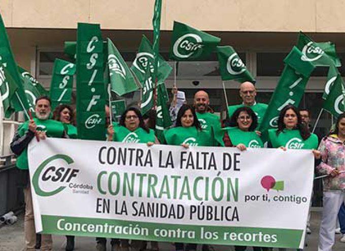 CSIF denuncia precariedad laboral de los trabajadores del SAS en el hospital Valle de los Pedroches