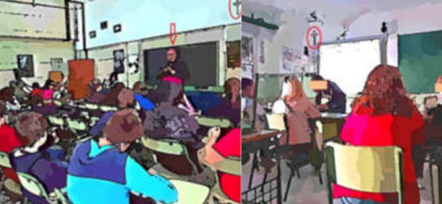 Un alumno reclama la eliminación de símbolos religiosos de un instituto de Dos Torres