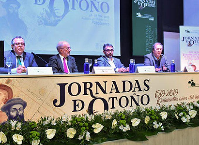 Hernán Cortés en la primera sesión de las Jornadas de Otoño de la Fundación Ricardo Delgado Vizcaíno