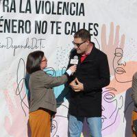 Una 'perfomance' contra la violencia de género en Hinojosa del Duque