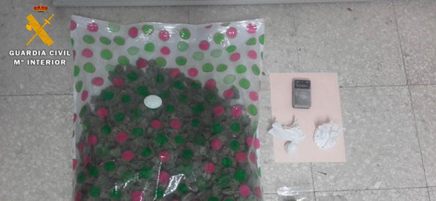La Guardia Civil interviene 19 gramos de cocaína en Villanueva de Córdoba y detiene a una persona
