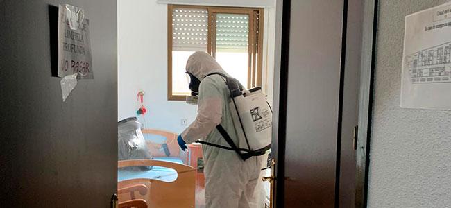 La Diputación comienza las labores de desinfección de las residencias de mayores en Conquista, El Guijo, Santa Eufemia y Torrecampo