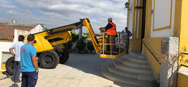 La parroquia del Carmen en Cardeña comienza las obras de mejora de los exteriores