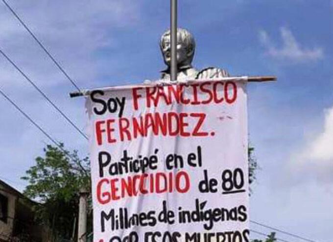 Los atentados contra monumentos llegan hasta el del pedrocheño Fernández Contreras, en Colombia