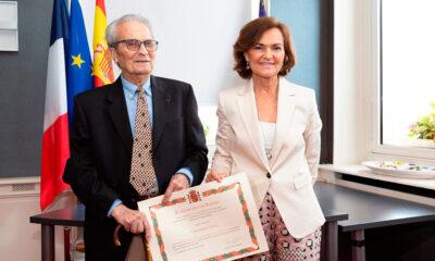 Juan Romero, último superviviente español de Mauthausen, homenajeado por el Gobierno