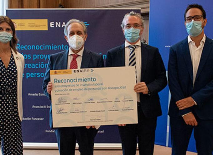 Una de las subvenciones de inserción laboral y creación de empleo de ENAIRE para la Fundación PRODE