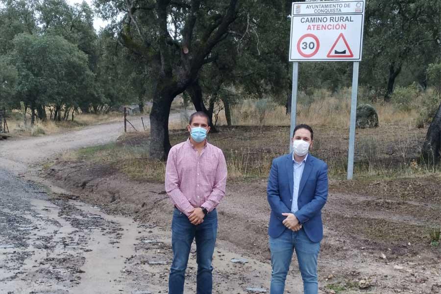 La Diputación invierte 22.000 euros en la mejora del camino rural 'La Posada del Pastor' en Conquista