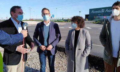 La Diputación concluye las obras de la glorieta de acceso al polígono industrial 'Dehesa Boyal' en Pozoblanco