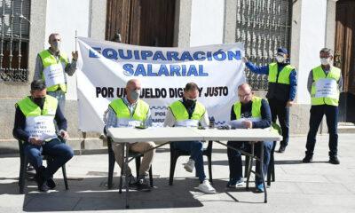 Funcionarios de la Policía Local de Villanueva de Córdoba vuelven a protestar