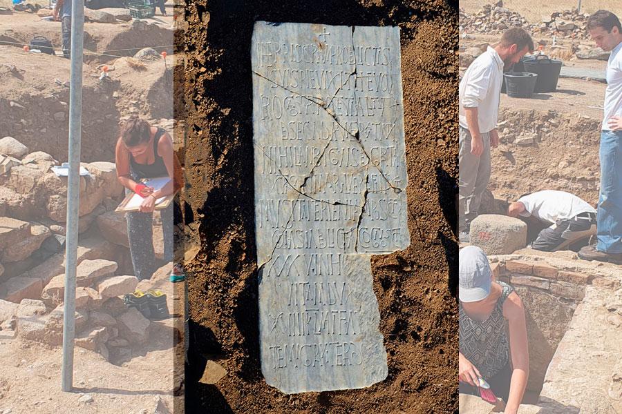 Una losa funeraria descubierta en La Losilla revela un texto único en Hispania y en el Occidente latino