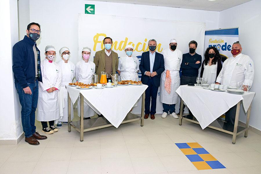 El presidente de COVAP visita la escuela profesional Fundación PRODE